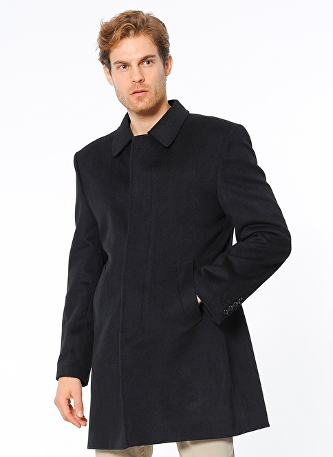 Wessi Yün Palto Siyah